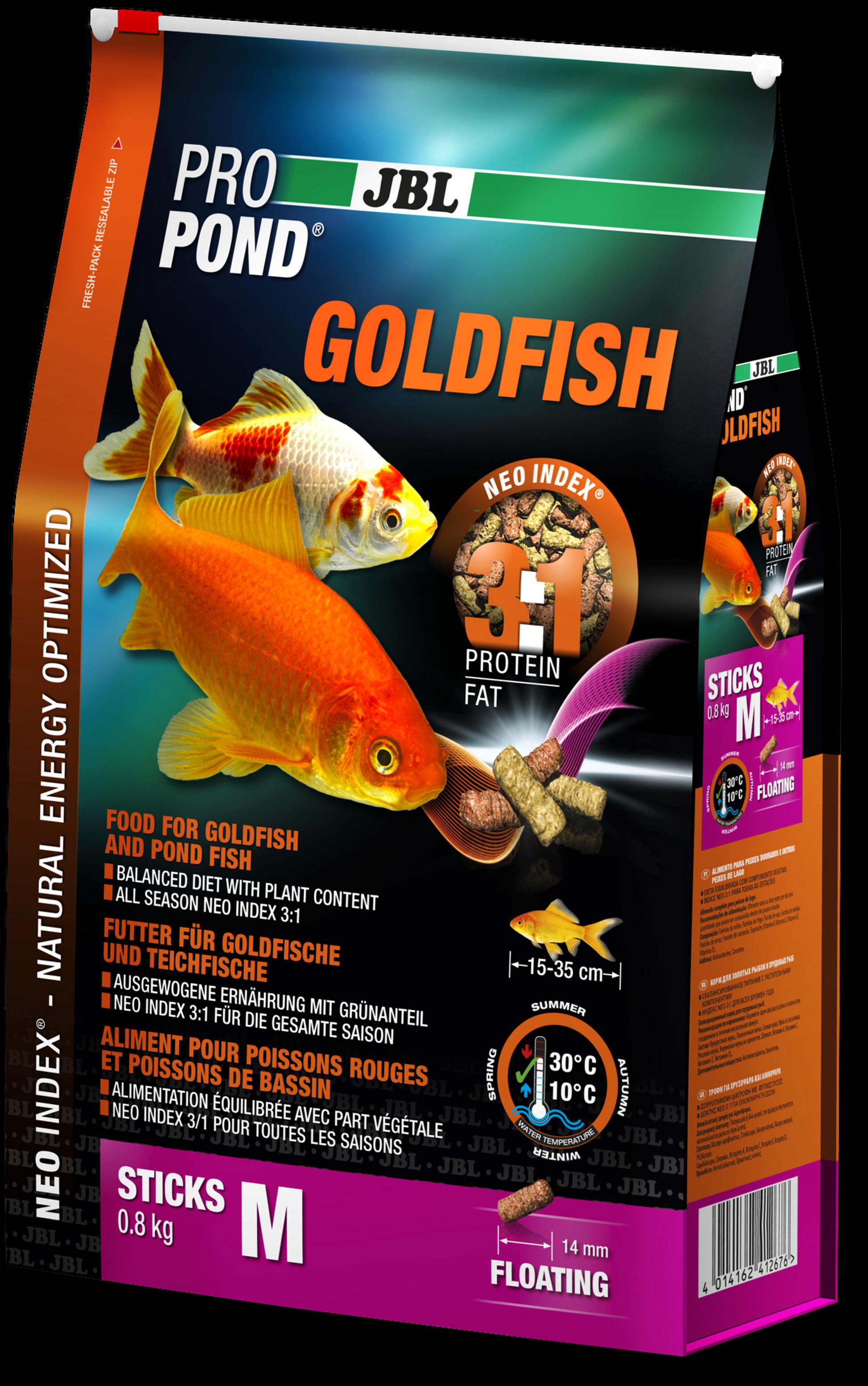 Jbl propond goldfish m for Bassin poisson exterieur